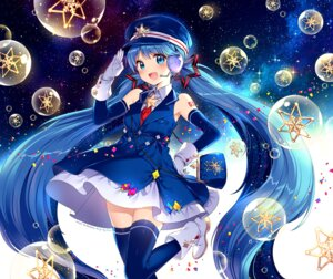 Rating: Safe Score: 68 Tags: dress hatsune_miku headphones nardack tattoo thighhighs vocaloid User: Mr_GT