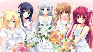 Rating: Safe Score: 80 Tags: chuablesoft dress game_cg lovera_bride mikami_haruka_(lovera_bride) mutou_kurihito omigawa_hitomi sakuranomori_misaki sasha_(lovera_bride) takano_yuki wedding_dress yuki_nao User: echidna_vita