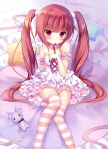 Rating: Safe Score: 132 Tags: amashiro_natsuki dress thighhighs User: drop