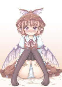 Rating: Questionable Score: 6 Tags: marujin mystia_lorelei pantsu thighhighs touhou User: Mr_GT