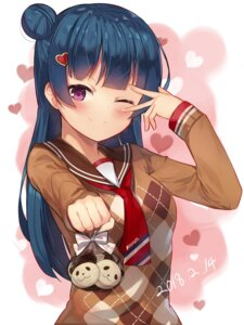 Rating: Safe Score: 33 Tags: love_live!_sunshine!! motokonut seifuku sweater tsushima_yoshiko valentine User: Mr_GT