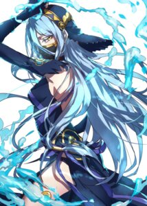 Rating: Safe Score: 50 Tags: aqua_(fire_emblem_if) dress fire_emblem fire_emblem_if garter no_bra pantsu see_through water_(artist) User: charunetra