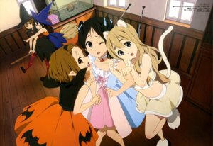Rating: Safe Score: 79 Tags: akiyama_mio animal_ears dress halloween hirasawa_yui k-on! kotobuki_tsumugi nakano_azusa nekomimi tail tainaka_ritsu thighhighs witch yamada_naoko User: drop