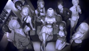 Rating: Safe Score: 36 Tags: business_suit cleavage dress heels mito_ikumi monochrome nakiri_alice nakiri_erina no_bra shokugeki_no_soma tadokoro_megumi yykuaixian User: Mr_GT