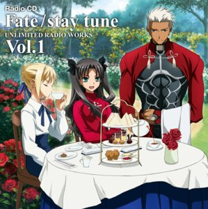 Rating: Safe Score: 9 Tags: archer disc_cover fate/stay_night fujii_maki saber toosaka_rin User: acas