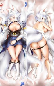 Rating: Explicit Score: 41 Tags: animal_ears ass azur_lane daisufuumi dakimakura kaga_(azur_lane) kitsune nipples no_bra open_shirt pantsu panty_pull tail topless User: Mr_GT