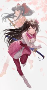 Rating: Questionable Score: 21 Tags: amamiya_sakura ekao pantyhose shin_sakura_taisen shinguuji_sakura sword User: Dreista