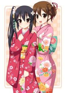 Rating: Safe Score: 37 Tags: hirasawa_yui k-on! minamori_noeru nakano_azusa yukata User: fairyren
