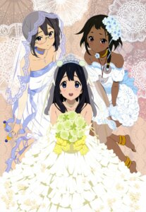 Rating: Safe Score: 80 Tags: asagiri_shiori choi_mochimazzi dress kitamura_emi kitashirakawa_tamako megane tamako_market wedding_dress User: PPV10