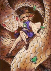Rating: Safe Score: 18 Tags: mishaguji moriya_suwako mosho thighhighs touhou User: Mr_GT