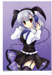 Rating: Safe Score: 43 Tags: animal_ears bunny_ears headphones mitha stockings thighhighs User: YamatoBomber
