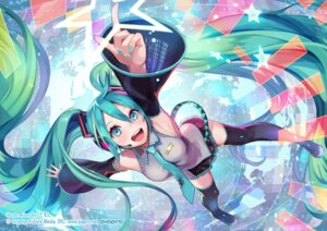 Rating: Safe Score: 49 Tags: hatsune_miku headphones temoshi thighhighs vocaloid User: Mr_GT