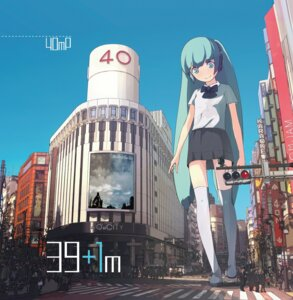 Rating: Safe Score: 38 Tags: disc_cover guitar_(artist) hatsune_miku headphones landscape seifuku thighhighs vocaloid User: Sunimo