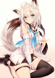 Rating: Safe Score: 70 Tags: animal_ears garter heels hololive shirakami_fubuki sukemyon thighhighs User: Mr_GT