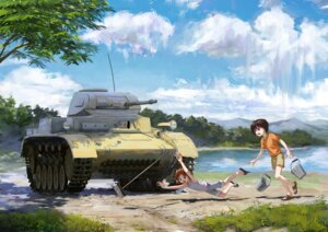 Rating: Safe Score: 31 Tags: girls_und_panzer itsumi_erika nishizumi_maho nishizumi_miho tank treeware User: nphuongsun93