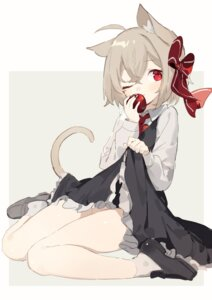 Rating: Questionable Score: 23 Tags: animal_ears nekomimi nopan rumia sh skirt_lift tail touhou User: Mr_GT