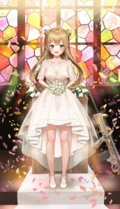 Rating: Questionable Score: 38 Tags: cleavage dress girls_frontline gun kian rfb_(girls_frontline) see_through wedding_dress User: hiroimo2
