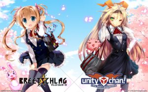 Rating: Safe Score: 35 Tags: breetschlag fujima_takuya ntny seifuku thighhighs unity-chan wallpaper User: Sunimo
