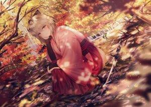 Rating: Safe Score: 82 Tags: artist_revision fate/grand_order heels japanese_clothes junpaku_karen sakura_saber sword wet User: Mr_GT