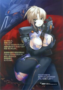 Rating: Questionable Score: 21 Tags: breast_hold fukatsu_ratorowa gun makishima_azusa mecha muvluv muvluv_alternative torn_clothes total_eclipse User: Davison