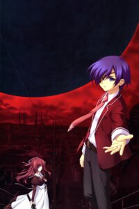 Rating: Safe Score: 6 Tags: 11eyes chikotam color_issue kengou kusakabe_misuzu satsuki_kakeru seifuku User: fireattack