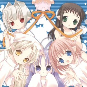 Rating: Safe Score: 6 Tags: bottle_fairy chiriri fairy hororo kururu neko oboro_(bottle_fairy) rere sarara tokumi_yuiko wings User: admin2