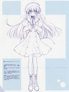 Rating: Safe Score: 12 Tags: amamiya_yuuko ef_~a_fairytale_of_the_two~ monochrome nanao_naru seifuku sketch User: admin2