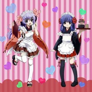 Rating: Safe Score: 31 Tags: furude_rika hanyuu higurashi_no_naku_koro_ni horns lolita_fashion sakai_kyuuta thighhighs wa_lolita waitress User: admin2