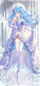 Rating: Safe Score: 118 Tags: dress heels hololive pointy_ears rin_yuu skirt_lift stockings thighhighs wedding_dress yukihana_lamy User: Spidey