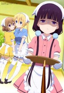 Rating: Safe Score: 75 Tags: blend_s heels hinata_kaho hoshikawa_mafuyu maid sakuranomiya_maika thighhighs waitress watanabe_atsuko User: drop