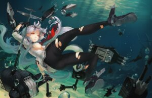 Rating: Questionable Score: 40 Tags: doomfest kantai_collection murakumo_(kancolle) pantyhose torn_clothes underboob wet User: Mr_GT