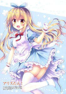 Rating: Safe Score: 39 Tags: alice alice_in_wonderland dress heels thighhighs watagashi_yui User: drop