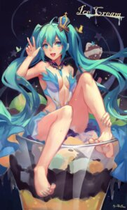 Rating: Questionable Score: 75 Tags: atdan cleavage feet hatsune_miku no_bra vocaloid User: blooregardo