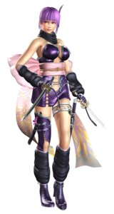 Rating: Questionable Score: 15 Tags: ayane_(doa) cg cleavage dead_or_alive garter heels ninja ninja_gaiden ninja_gaiden_2 no_bra sword thighhighs User: Yokaiou