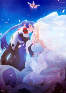 Rating: Safe Score: 13 Tags: dress i-iv macross macross_frontier overfiltered saotome_alto scanning_resolution sheryl_nome wedding_dress User: fireattack
