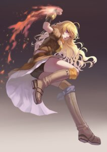 Rating: Safe Score: 49 Tags: bike_shorts bojue_yu_yaojing rwby weapon yang_xiao_long User: zero|fade