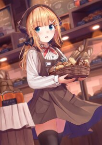 Rating: Safe Score: 64 Tags: artist_revision enuni thighhighs uniform waitress User: BattlequeenYume