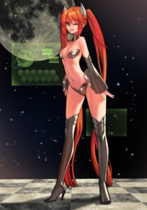 Rating: Safe Score: 32 Tags: aaru cleavage horns thighhighs User: Radioactive