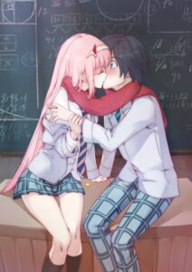 Rating: Safe Score: 36 Tags: chenaze57 darling_in_the_franxx hiro_(darling_in_the_franxx) horns seifuku zero_two_(darling_in_the_franxx) User: Spidey