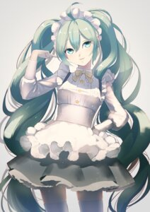 Rating: Safe Score: 25 Tags: hatsune_miku huacai maid pantyhose thighhighs vocaloid User: charunetra