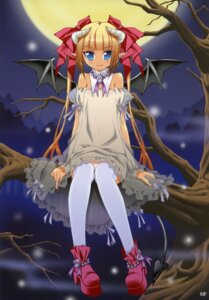 Rating: Safe Score: 28 Tags: devil dress horns oshaban pantsu sasahiro shimapan thighhighs wings User: petopeto
