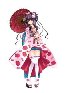 Rating: Safe Score: 40 Tags: carnelian garter hello_kitty kimono miyabi_sakuya thighhighs User: blooregardo