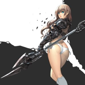 Rating: Questionable Score: 142 Tags: armor ass daeho_cha pantsu string_panties torn_clothes weapon User: SneakySpy