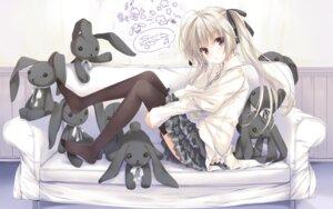 Rating: Safe Score: 131 Tags: kasugano_sora ohara_tometa sphere thighhighs wallpaper yosuga_no_sora User: Hatsukoi