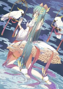 Rating: Safe Score: 51 Tags: catin dress feet garter hatsune_miku no_bra vocaloid wet User: Mr_GT