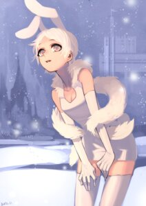 Rating: Safe Score: 9 Tags: aaru dress thighhighs User: Radioactive