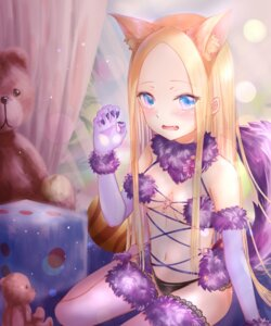 Rating: Questionable Score: 20 Tags: abigail_williams_(fate/grand_order) animal_ears cosplay fate/grand_order loli mash_kyrielight pantsu sanka_tan tail thighhighs User: BattlequeenYume