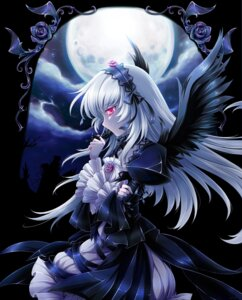 Rating: Safe Score: 42 Tags: gothic_lolita lolita_fashion mtyy rozen_maiden suigintou wings User: Kyouko