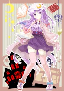 Rating: Safe Score: 37 Tags: patchouli_knowledge porurin thighhighs touhou User: Mr_GT