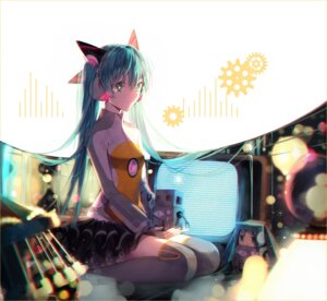 Rating: Safe Score: 42 Tags: hakusai hatsune_miku odds_&_ends_(vocaloid) thighhighs vocaloid User: Mr_GT